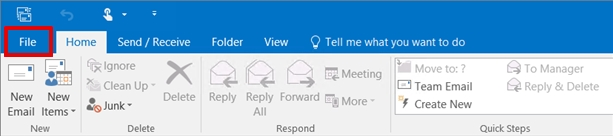 importing data in Outlook 2013 step 1