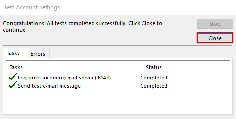 setting up outlook 2016 to check email step 9