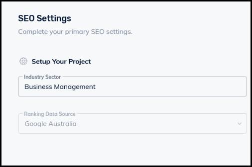 seo settings set up seo project step 3