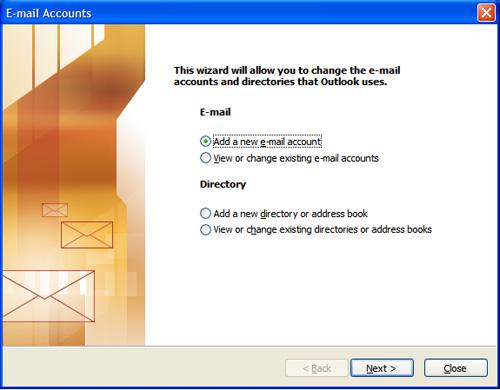 outlook 2003 setup step 3