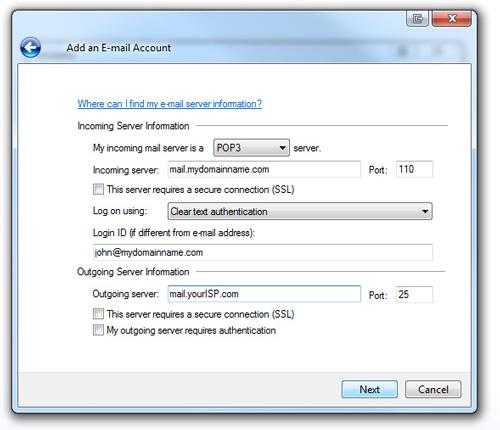 windows live mail step 6