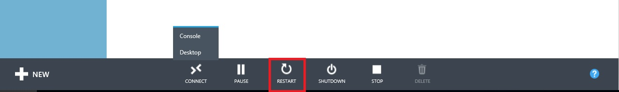starting and rebooting hyper-v servers step 4