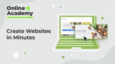 Create Websites in Minutes